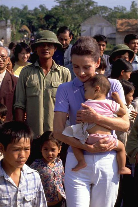 UNICEF Goodwill Ambassador Audrey Hepburn in Vietnam, 1990 - I think this role more than any other is the one she would want to be remembered for.