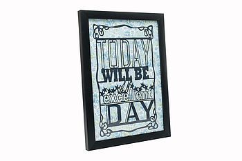 'today will be an excellent day' paper cut by ( q u i e t l y c r e a t i v e ) | notonthehighstreet.com