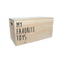 Baul de madera guarda juguetes minimoi