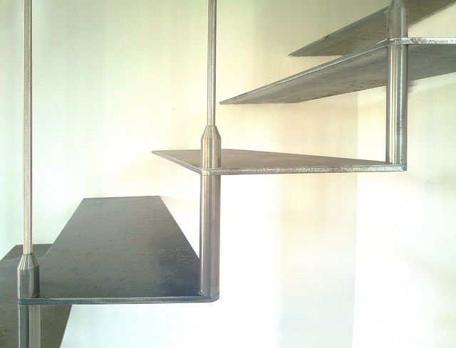 stainless steel stair for FerFed - Modena | Flickr  design by Lauro Ghedini Studio