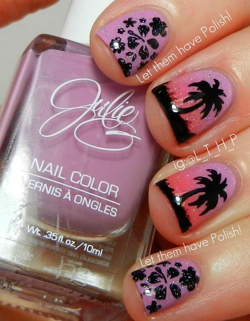"""Julie nail polish, """"Dream in Pretty"""", """"Julie's Fave"""" and a sparkle coat of INM Northern Lights"""