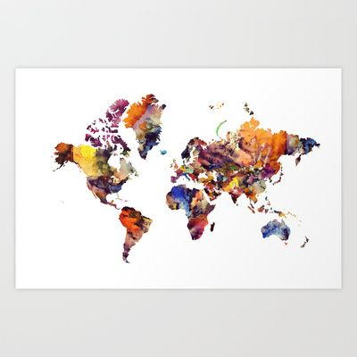 LCN's World Art Print by Lucy Claire Nash - $14.56