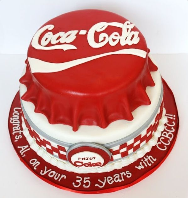 Coca-Cola cake.  So going to make this for my daughter she loves anything with coke designs