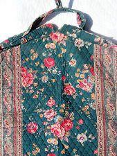 Vintage Vera Bradley Indiana Greenbriar Floral & Paisley Quilted Garment Bag -