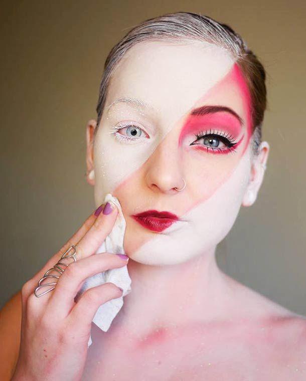 Quand la maquilleuse Elsa Rhae s'amuse à se déguiser…