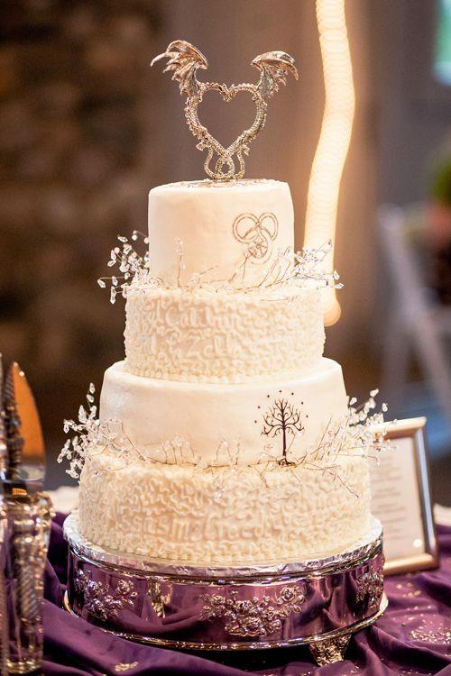 White Tree Wedding Cake