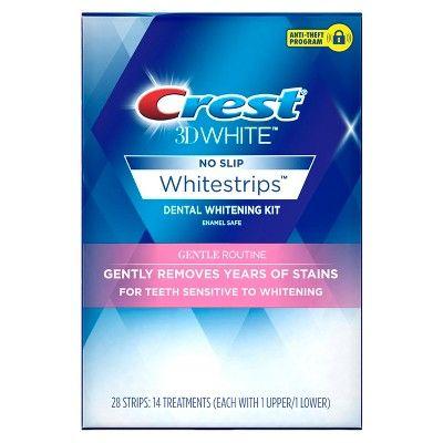 Crest 3D White Whitestrips Gentle Routine Teeth Whitening Kit -14 Treatments