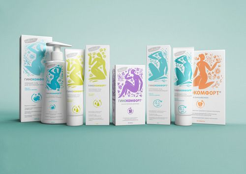 Ginocomfort, Russian feminine hygiene range