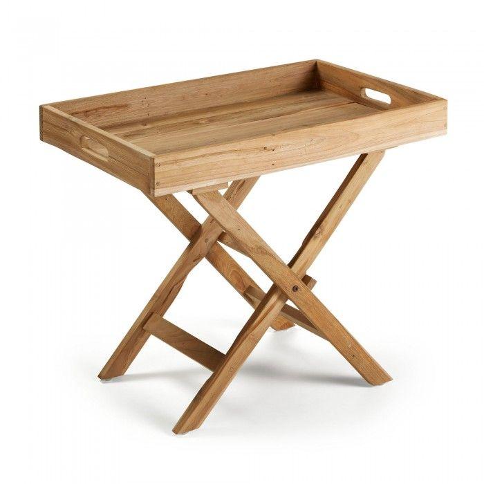 Table Pliante Xtray 70 X 45 Cm Kave Home Table Pliante Table D Appoint Table Pliable