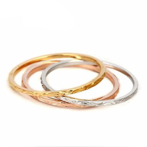 Three Color Tri Ring
