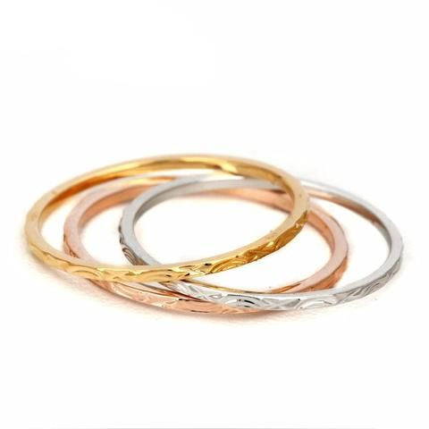 Three Color Tri Ring