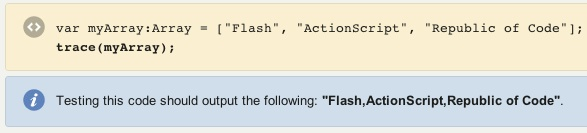 #flash #as3 basics: Introduction to Arrays in ActionScript 3.0 http://www.republicofcode.com/tutorials/flash/as3arrays/