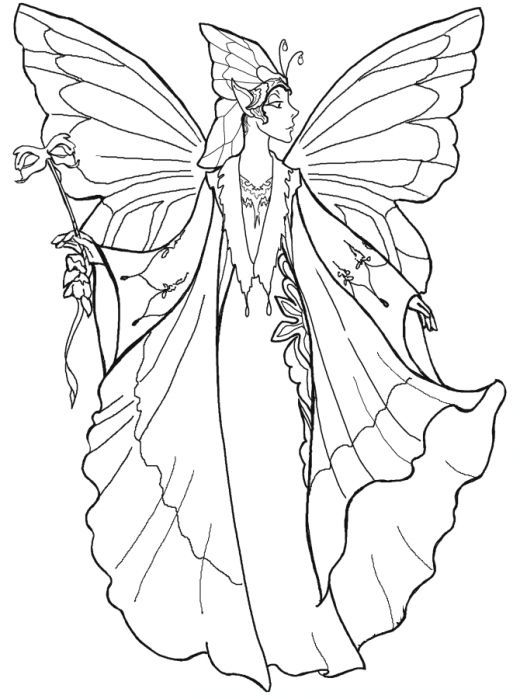 387 best fairies coloring images on Pinterest | Coloring books ...
