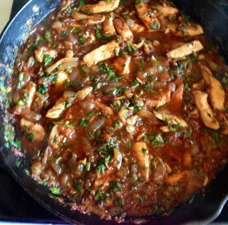 Chahohbili is very flavorful and aromatic Georgian dish that could be referred to chicken ragu or stew with lots of garlic and cilantro.Back in those days they used to make dish from Pheasant,but chicken is more popular nowadays.