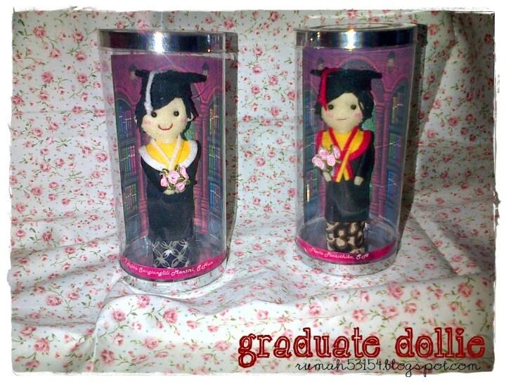 Graduate handmade doll. As a gift and souvenir.