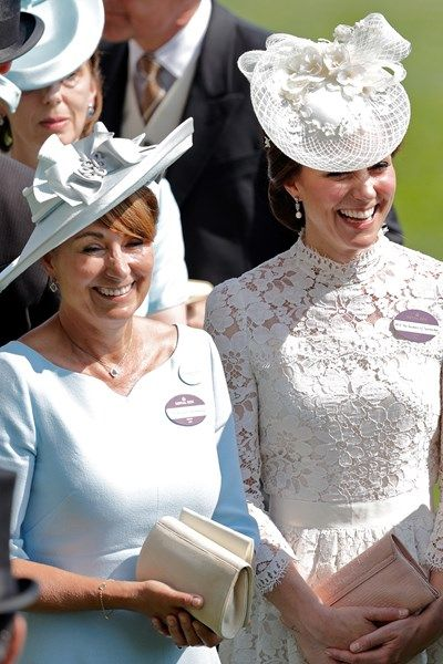 The Duchess of Cambridge with her mother Carole Middleton attend Royal Ascot 2017