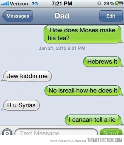 How does Moses make his tea?