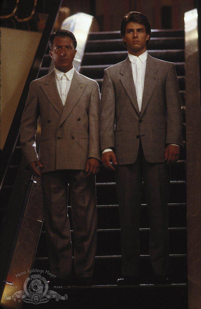 "Tom Cruise and Dustin Hoffman in ""Rain Man"" (1988)"