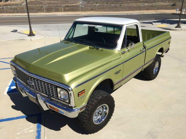 1970 Chevrolet K10 4x4 Custom Short Bed Truck Chevy Trucks