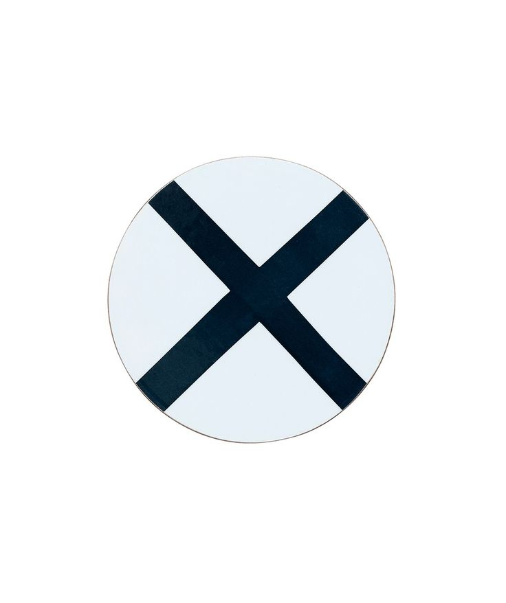 This Large Cross Coaster will bring a pop of colour to your dining table, made from cork and coated with a wipeable, laminated surface for easy cleaning. Also available in a matching placemat design. | huntingforgeorge.com