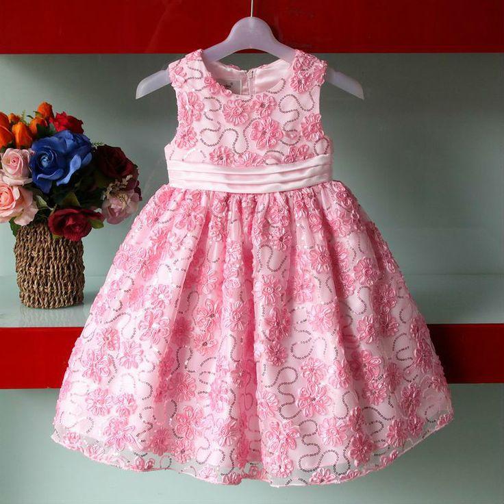 새로운 디자인 패션 핑크 아이 파티 마모/ 여자 드레스  #NewFrdign #KidsPartyWear #GirlDress