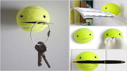 Do it yourself Thursday: een vrolijke tennisbal. http://www.trnd.com/nl/blog/2013/04/18/do-it-yourself-thursday-een-vrolijke-tennisbal/