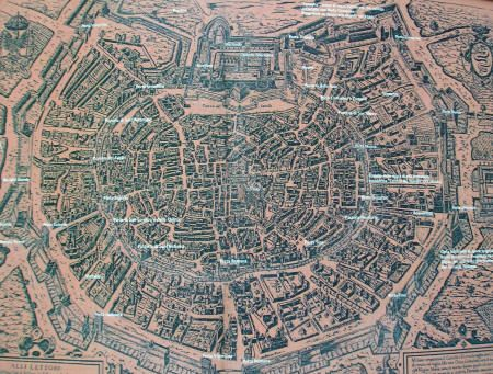 Historical Map of Milan Italy