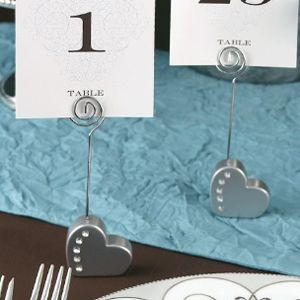 heart with rhinestone place card holder place card party