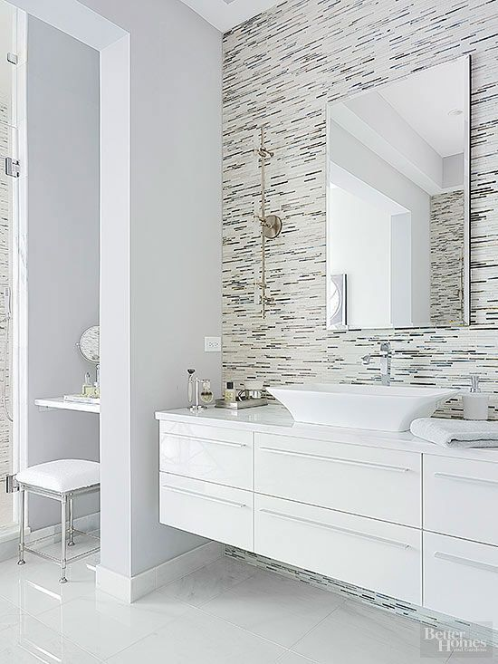 Dramatic Bathroom Architecture Modern White Bathroom