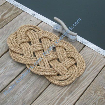 Nautical Ocean Plait Rope Mat