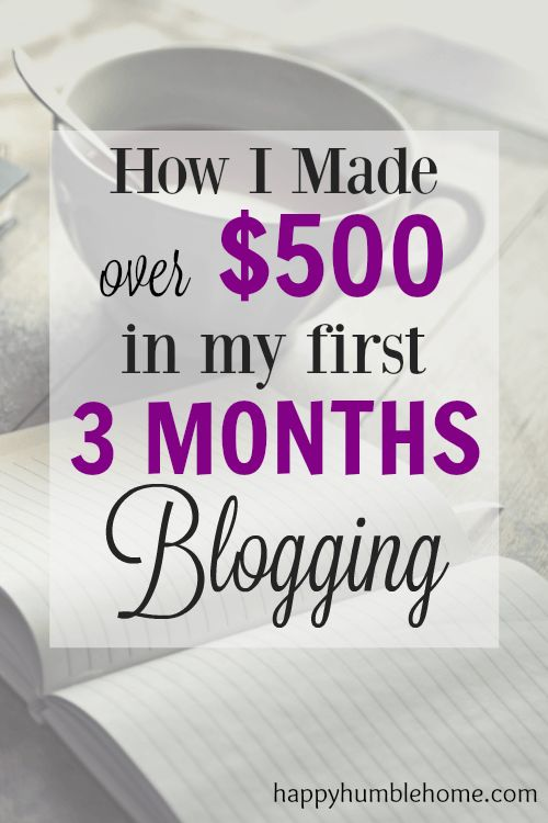 How I made over $500 in my first 3 Months Blogging - Everything you need to know so you can do it too! Over 50K Pageviews and $500 in 3 months! You need to read this!!