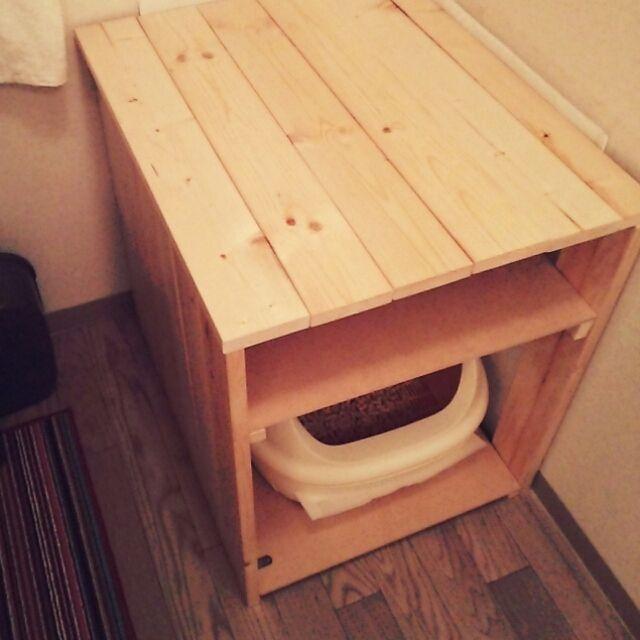 蜜蝋ワックス/SPF材/北欧/家具作り/DIY/猫トイレ…などのインテリア実例 - 2015-08-30 00:31:27 | RoomClip(ルームクリップ)