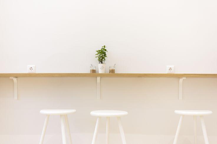oak, material, cafe design