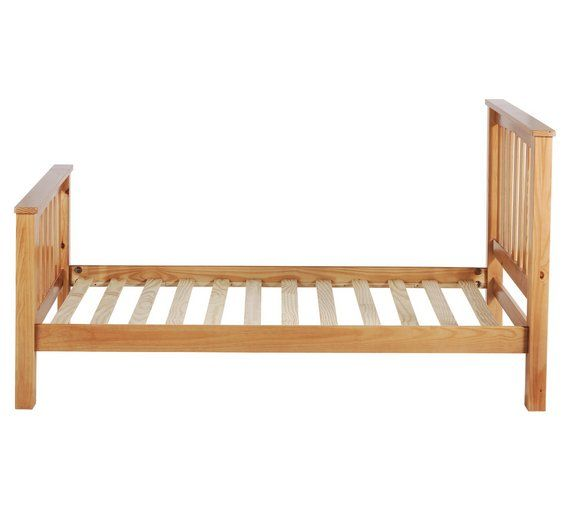 buy collection maximus oak stained bed frame 150