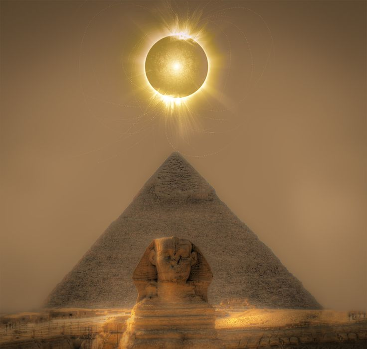 Lunar Eclipse Above the Pyramid and Sphinx from www.jonathanphotos.com #JonathanPaulson