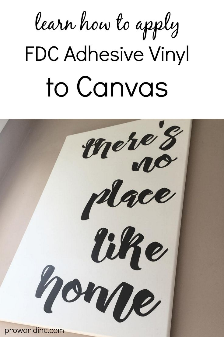how to apply adhesive vinyl to a canvas! | Pro World Inc