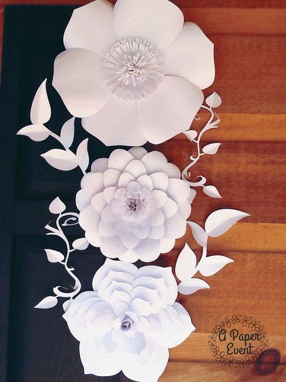 Paper Flower Backdrop Wedding Centerpiece Giant by APaperEvent                                                                                                                                                                                 More