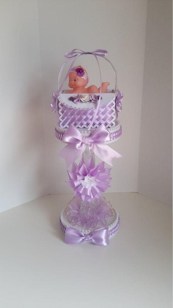 Lavender centerpiece Lavender baby shower centerpiece girls