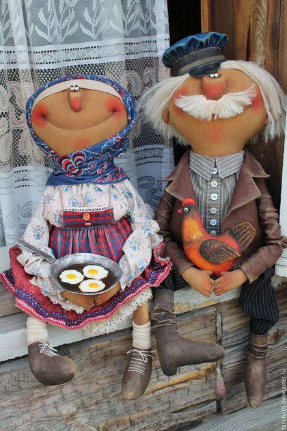 Коллекционные куклы ручной работы. Ярмарка Мастеров - ручная работа. Купить Жили-были.... Handmade. Комбинированный, интерьерная кукла, синтепух