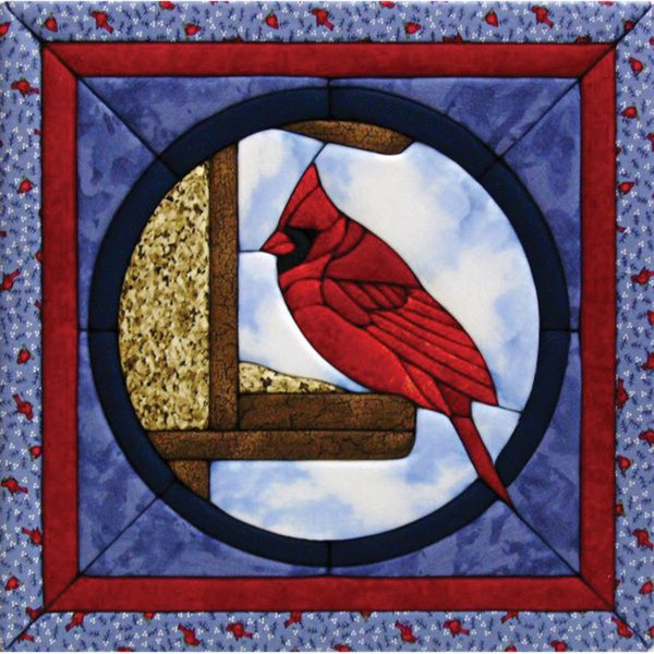 Quilt Magic Cardinal Quilt Kit 12x12 Quilt Wall