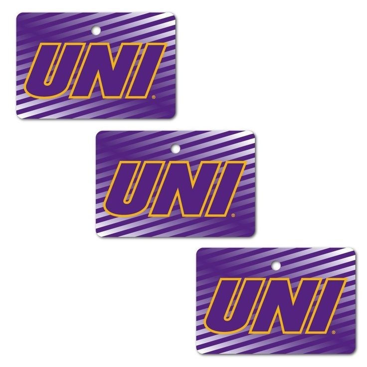 University of Northern Iowa Ornament - Set of 3 Rectangle Shapes
