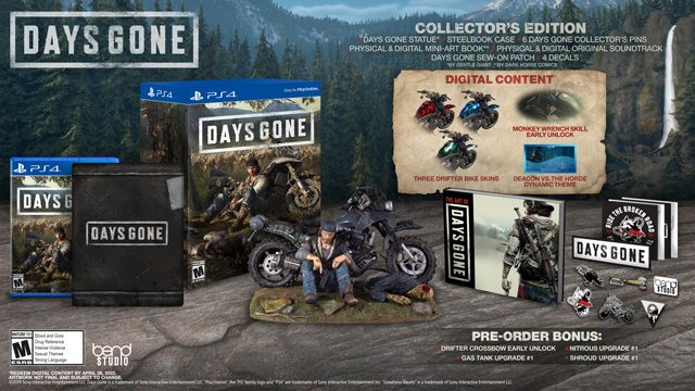 Days Gone Collector S Edition For Playstation 4 Gamestop Playstation 4 Edition Playstation