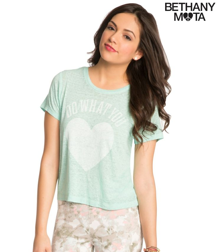 Sheer Graphic T from Bethany Mota Collection at Aeropostale