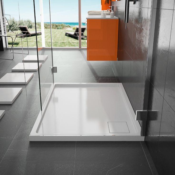 Receveur de douche Cedam - Mars. Choisissez l'alternative à la douche à l'italienne en choisissant ce receveur de douche en Durocoat brillant. #douche