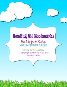 BOOKMARK TEMPLATES WORD PRINTABLES READING - TeachersPayTeachers.com