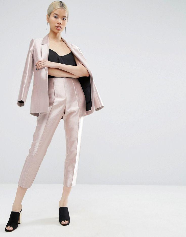 ASOS Ultimate Pink Metallic Trousers