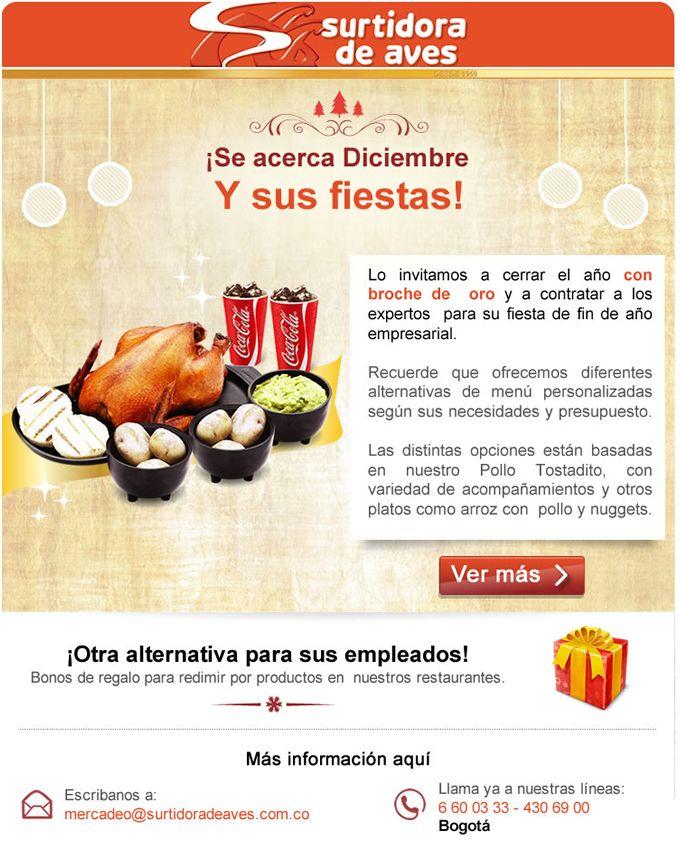 #NOVOCLICK esta con #SURTIDORADEAVES y sus planes empresariales en #navidad Y #findeaño