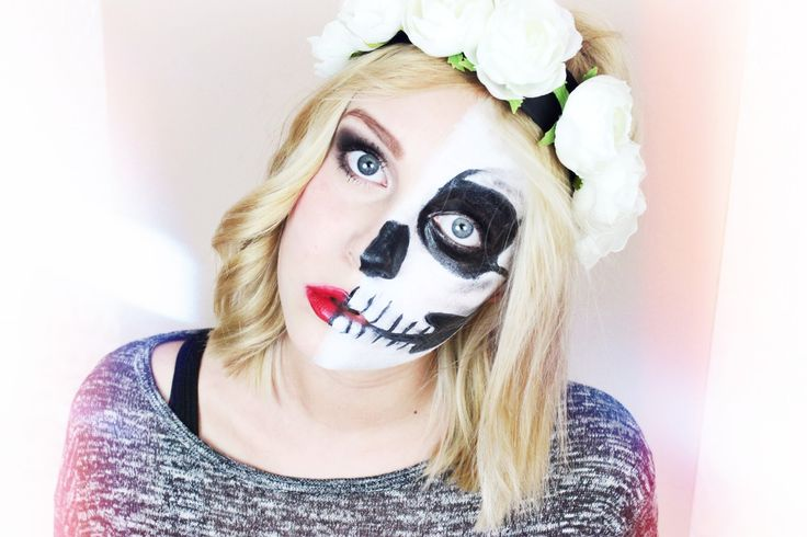 LADY vs. SKULL - Halloween Make-up Tutorial | Dagi Bee