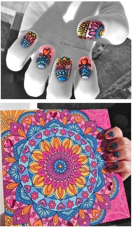 super groovy 60's ish nail art