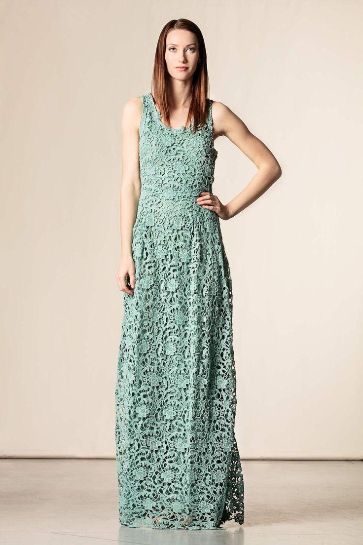 Vestito lungo pizzo macrame' azzurro. #scervinostreet #perfectdress #dressingfab #shoponline